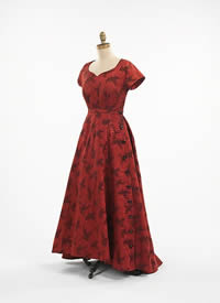 British Red Evening Gown