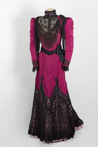Pink and Black Victorian Lacy Dress